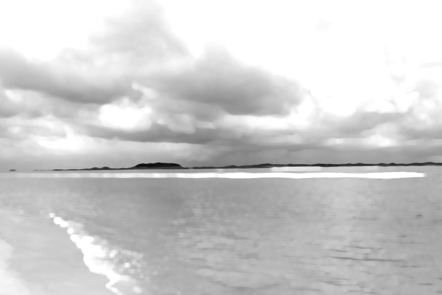 Rainy Day By the Sea